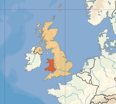 This is the location of Wales in Britain