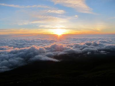 Sunrise from the Mt. Fuji slopes