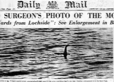 First news report of the sighting of Nessie in 1934