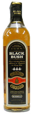 Black Bush Irish whiskey, made in Antrim, Northern Ireland