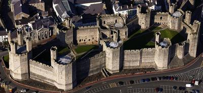 Caernarfon Castle, where the royalty investiture of the Prince of Wales was held