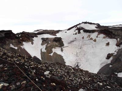 Mt. Fuji's Volcanic Crater