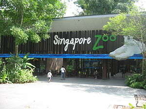The entrance of Singapore Zoo