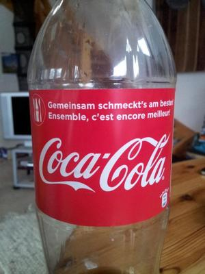Bilingual Swiss Coke bottle