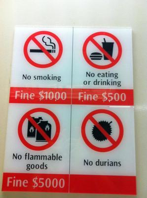 Strict rules in Singapore