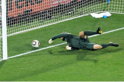 Robert Greene failed to stop the shot. It's considered the big blooper of the world cup.