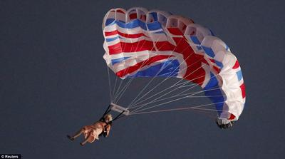 She even practices parachuting! (just once, but she did)
