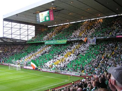 The football stadium in Glasgow