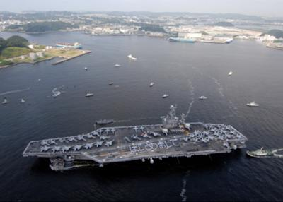 U.S. aircraft carrier USS Ronald Reagan (CVN-76) providing emergency assistance after the March 11, 2011 Great East Japan Earthquake & Tsunami