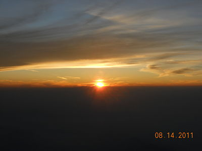 Sunrise from Mt. Fuji