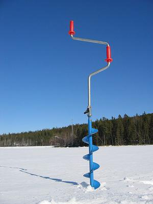A hand ice auger
