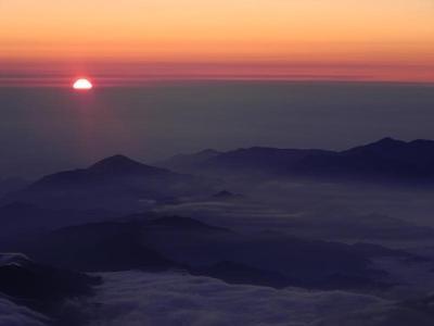 Goraiko (sunrise) from summit of Fujisan