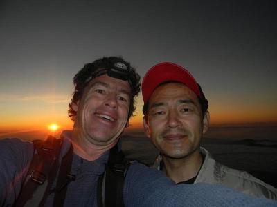 Rob & Ryoji on summit of Fujisan