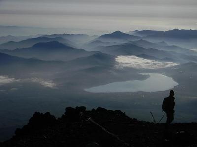 View East from Fujisan crater rim