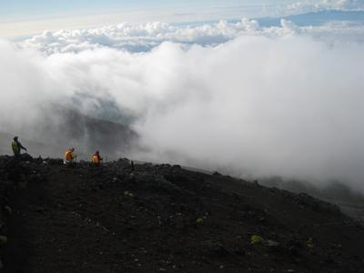 Clouds on Mt. Fuji