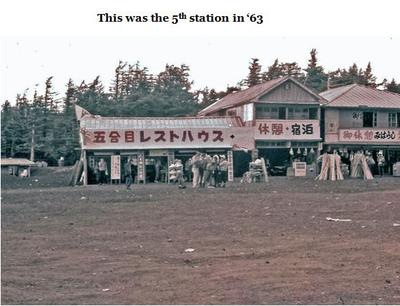 Mt. Fuji 5th Station in 1963
