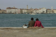 A fine middle-aged couple in Venice