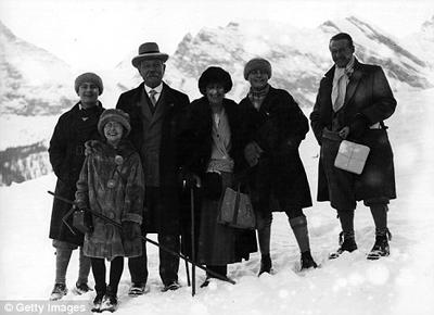 Sir Arthur Conan Doyle with a party of his friends on a winter holiday