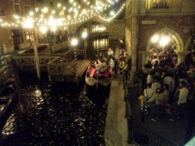 Venetian gondola rides at Tokyo DisneySea