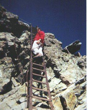 Jeff on ladder in the Daikiretto