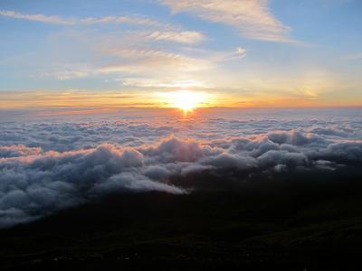 Sunrise from the Mt. Fuji slopes