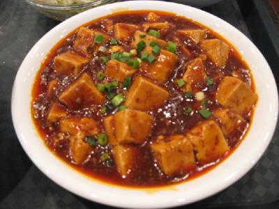 (2) Bean Curd with Minced Beef Chili Sauce (Mabodofu)