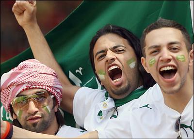 Saudi Arabian soccer fans