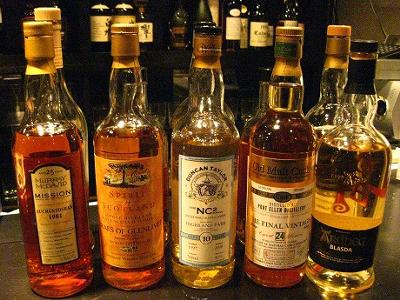 Different kinds of Scotch whisky