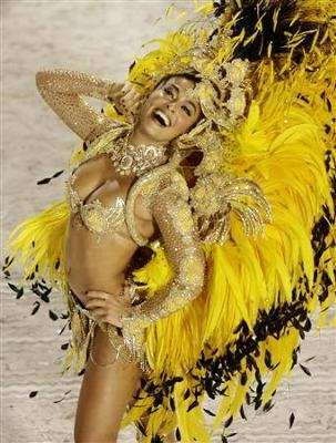 A woman dancing the samba