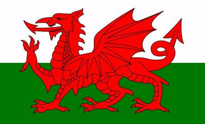 The national flag of Wales