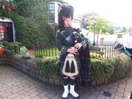 a Scot wearing a kilt